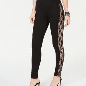 INC Shaping Lace-Stripe Leggings